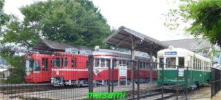 美濃市 旧名鉄美濃駅のチンチン電車