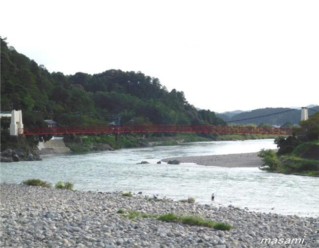 美濃橋 長良川 美濃市