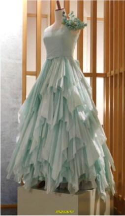 美濃和紙 ウエディングドレス
