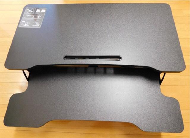 スタンディングデスク 卓上型 FITUEYES 完成画像